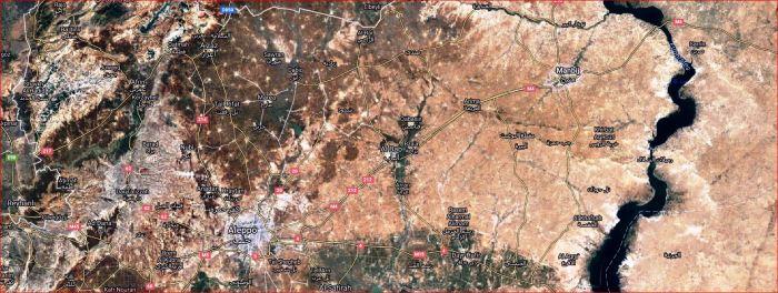 Manbij-Aleppo-map