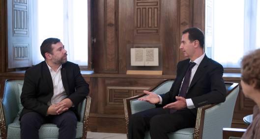 President al-Assad European parliamentarians-2