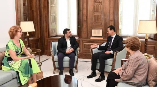 President al-Assad European parliamentarians