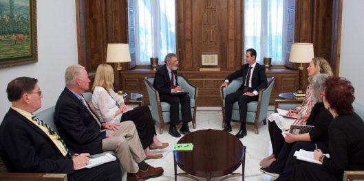 President al-Assad-US administration-against-US people