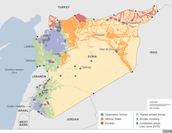 Map of the Syria Conflict-2
