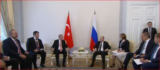 Turkish President Tayyip Erdogan speaks to Russian President Vladimir Putin-2