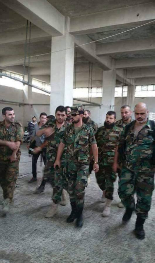The Syrian army's Tiger Forces in the Ramouseh Artillery Base