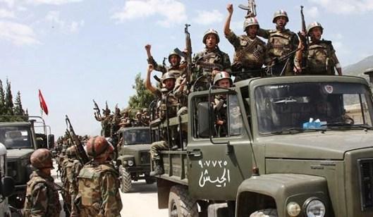 シリア軍は--より-軍隊を送ります