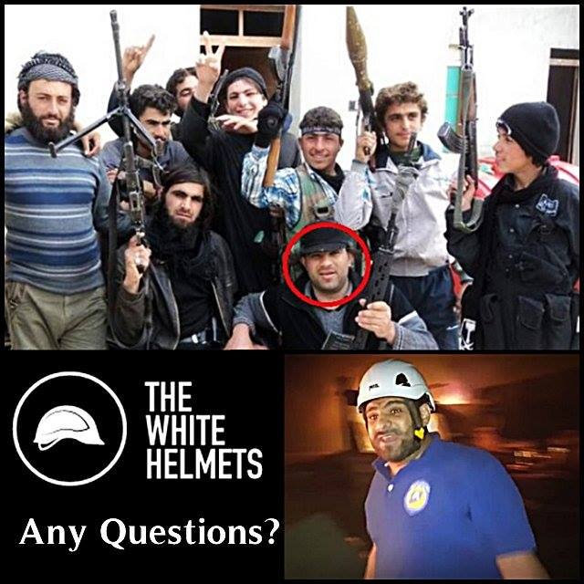 Image result for fake white helmets