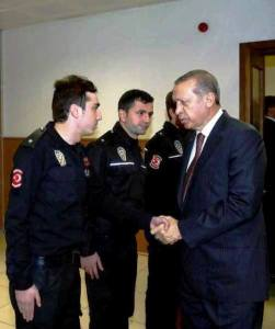 Erdogan congratulates with the future murderess of the Russian Ambassador Andrei Karlov
