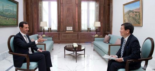president-al-assad-interview-japan-tbs-channel-4