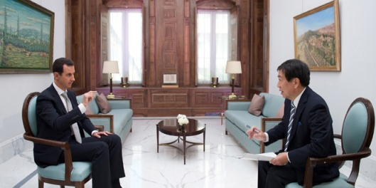 president-al-assad-interview-japan-tbs-channel-5