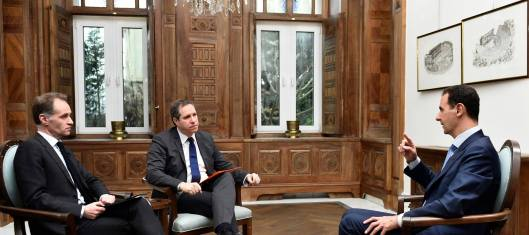 President al-Assad to French media TF1 TV and EUROPE 1 Radio