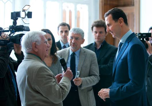 President al-Assad to European media