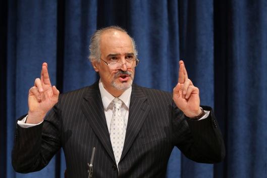 Syria's ambassador to the UN, Dr. Bashar Al-Jaafari
