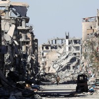Syria's Raqqa is comparable to the infamous Allied bombing of Dresden in 1945 [...and NATO bombing of Sirte in 2011...]