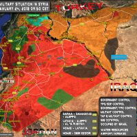 Syria, Military Situation, 24 January 2018 (Map)