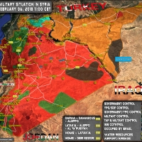 Syria, Military Situation on 6 February 2018 (Map)