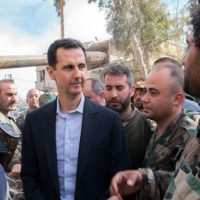 President Bashar Al-Assad with the Heroes of Syrian Arab Army at the Front Lines in Eastern Ghouta ~ [Report, Photos, Videos]