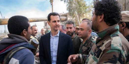 Bashar al-Assad in Ghouta (1)