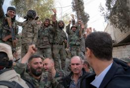 Bashar al-Assad in Ghouta (10)