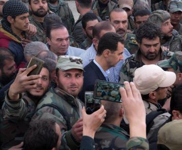 Bashar al-Assad in Ghouta (8)