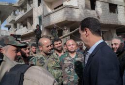 Bashar al-Assad in Ghouta (9)